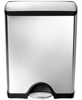 simplehuman Deluxe Rectangular Step Trash Can, 38 Liter   Kitchen Gadgets   Kitchen