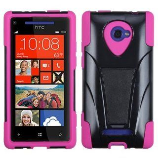 MYBAT AHTCWIN8XHPCSAAS103NP Advanced Armor Rugged Durable Hybrid Case with Kickstand for HTC Windows Phone 8X   1 Pack   Retail Packaging   Hot Pink Cell Phones & Accessories