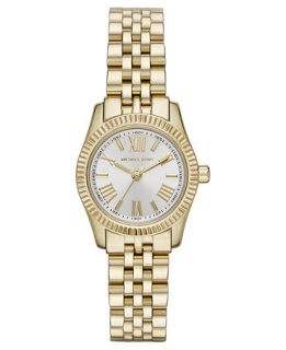 Michael Kors Womens Petite Lexington Gold Tone Stainless Steel Bracelet Watch 26mm MK3229   Watches   Jewelry & Watches