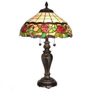 Dale Tiffany Rose Floral Desk and Table Lamp