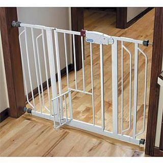 Improvements Extra Wide Walk Through Pet Gate with Small Door
