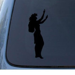 HULA GIRL   Hawaiian Dancer   Car, Truck, Notebook, Vinyl Decal Sticker #1164  Vinyl Color Black Automotive