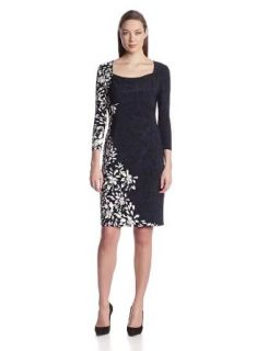 Anne Klein Women's Pleated Yoke Sheath