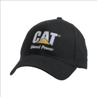 Caterpillar CAT Structured Black Diesel Power Hat Sports & Outdoors