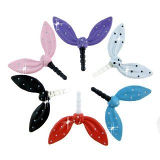 FiMeney Lovely Crystal Diamond Bow Bowknot Rabbit Ears Anti Dust Plug Stopper For HTC one, iPhone 3 3GS 4 4S 5 5C 5S, iPad 1 2 3 4 Mini, Samsung Galaxy Note N7100 2, Galaxy S3 I9300, I8190, I8262D, S2, I9100, I9268, S5830, I9000, Samsung i9500 Galaxy S4, S