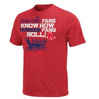 Boston Red Sox Red Rivalry 'Yankees Bandwagon' T Shirt  Athletic T Shirts  Sports & Outdoors