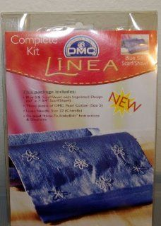 Linea Blue Silk Scarf / Shawl Kit by DMC   Fashion Scarves