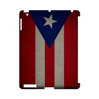 [Geeks Designer Line] Grunge Puerto Rico Apple iPad 2nd Gen Plastic Case Cover [Anti Slip] Supports Premium High Definition Anti Scratch Screen Protector; Durable Fashion Snap on Hard Case; Coolest Ultra Slim Case Cover for iPad 2nd Gen Supports Apple 2nd