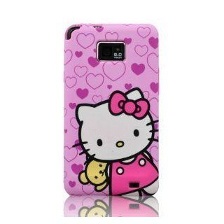 I Need's 3d Hide seek Hello Kitty Cute Lovely Soft Case Cover for Samsung Galaxy S2 I9100 (Not for Sprint & T mobile) with 3d Hello Kitty Stylus Pen, Purple Cell Phones & Accessories