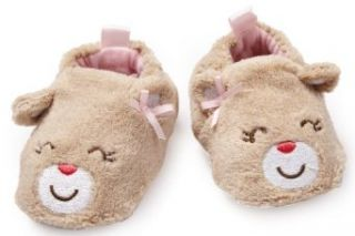 Carter's Hosiery Baby girls Newborn Bear Coral Animal Slipper, Brown, Small Clothing