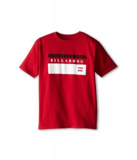 Billabong Kids Blocked Out S/S Tee Boys T Shirt (Red)