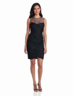 Adrianna Papell Women's Tulle Necklace Dress, Ink, 10