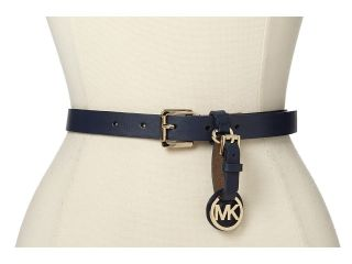 MICHAEL Michael Kors 20MM Belt w/ Buckle And Removable Luggage Tag Womens Belts (Navy)