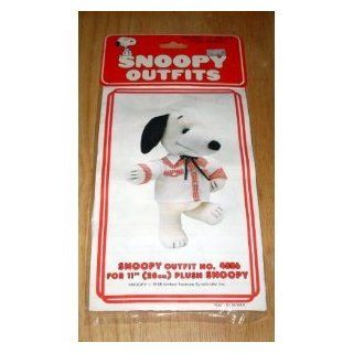 "Peanuts Snoopy Outfits for 11"" Plush Snoopy   Western Square Dance Shirt & Tie Outfit Toys & Games"