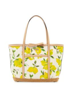 capri espadrille francis tote bag, painterly lemons   kate spade new york