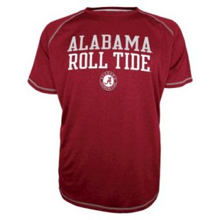 NCAA Mens Raglan Shirt Alabama Red