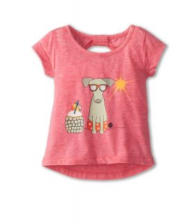 Roxy Kids Warm Day Top Girls T Shirt (Pink)