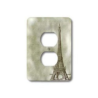 3dRose lsp_110223_6 Eiffel Tower Vintage Art Paris 2 Plug Outlet Cover   Outlet Plates