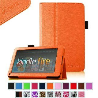 "FINTIE (Orange) Slim Fit Folio Stand Leather Case for  Kindle Fire 7"" Tablet  10 Color Options (does not fit Kindle Fire HD) Kindle Store"