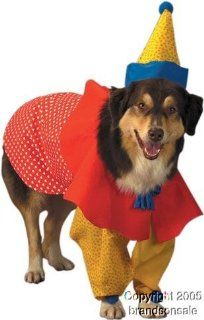Pet Clown Dog Halloween Costume For Small Dogs