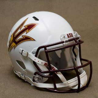 ARIZONA STATE SUN DEVILS Riddell Revolution SPEED Football Helmet WHITE  Sports & Outdoors