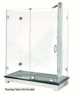 Polished Chrome Essence Series Basic Sliding Shower Door Kit with Squared Corner Rollers   Bathroom Accessory Sets