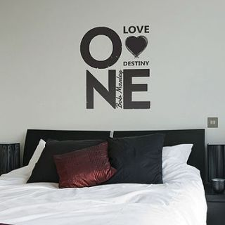 one love bob marley quote wall stickers by the binary box