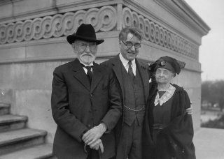 1924 photo Senator Copeland with his father & mother, 4/26/24 Vintage Black & c1   Photographs