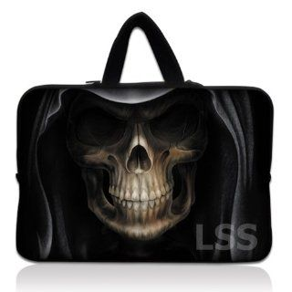 Laptop Skin Shop Neoprene Laptop Tablet Sleeve W. Hidden Handle Case Fits Tablet Netbook, Hooded Dark Lord Skull Computers & Accessories