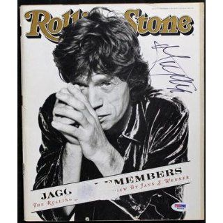 Mick Jagger The Rolling Stones Signed 1995 Rolling Stone Magazine Psa #s00804   Memorabilia Mick Jagger Entertainment Collectibles