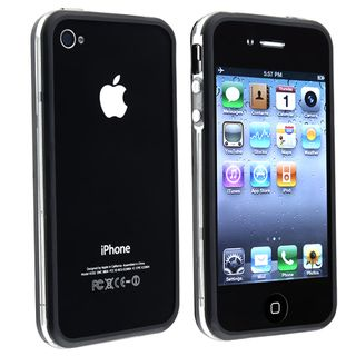 Clear/ Black TPU Rubber Skin Bumper Case for Apple iPhone 4/4S BasAcc Cases & Holders