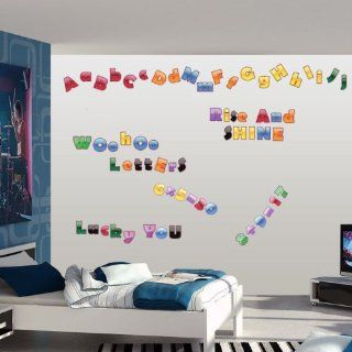 Letters and Numbers Print Wall Decals Kit   Wall Decor Stickers
