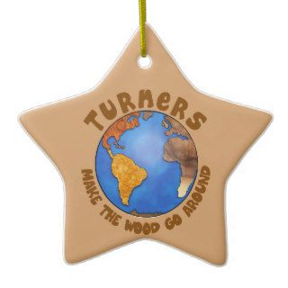 Turners Globe Funny Woodturning Earth Christmas Tree Ornament