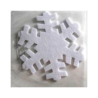 "Club Pack of 24 Winter White Felt Snowflake Christmas Ornaments 10""   Decorative Hanging Ornaments"