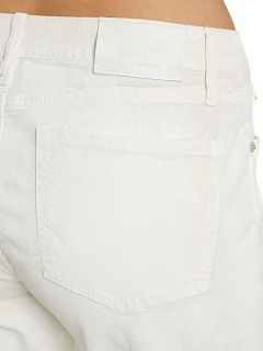 Lauren by Ralph Lauren Mod coated slim leg jean White