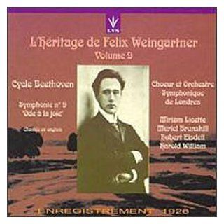 "L'Heritage de Felix Weingartner Cycle Ludwig Van Beethoven, Vol. 9 Symphony No. 9 ""Ode to Joy"" (recorded 1926   sung in english) Music"