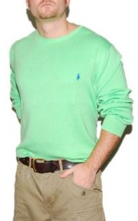 Polo Ralph Lauren Mens Pima Cotton Sweater Green XXL at  Men�s Clothing store
