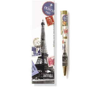 Fringe Studio Eiffel Tower with Postage Chunky Pen   Unique Decorative Items