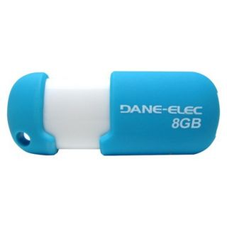 Dane Elec 8GB USB Flash Drive w/Cloud   Blue/Whi