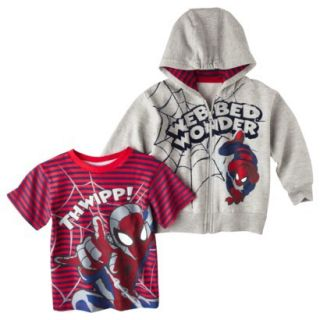 Spider Man Infant Toddler Boys Tee Shirt and Ho