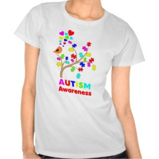Autism awareness tree t shirts