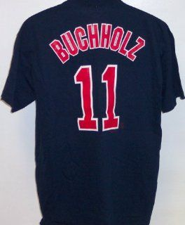 Clay Buchholz Boston Red Sox Name and Number T Shirt, Athletic Navy Adult Medium  Sports Fan Apparel  Sports & Outdoors
