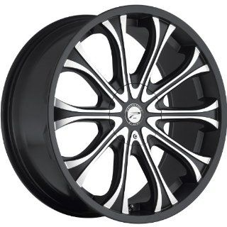Platinum Mogul 20 Black Wheel / Rim 6x5.5 & 6x135 with a 25mm Offset and a 106 Hub Bore. Partnumber 408 2935B+25 Automotive