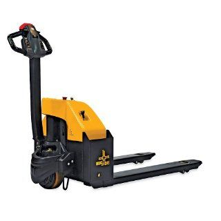 "BIG JOE E30 Fully Powered Pallet Truck   Pallet Jack   27"" Wide Forks Motorized Pallet Jack"