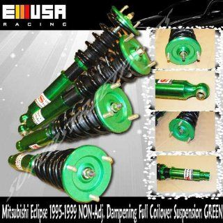 1995 1999 Mitsubishi Eclipse 2nd Gen, Eagle Talon Full Coilover Suspension Non adj. Dampening Green Adjustable Ride Height Automotive