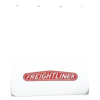 "Freightliner Semi Truck Logo 24"" x 30"" White Polyurethane Mud Flaps Pair Automotive"