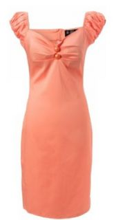 Collectif Pinup Girl Design 60's Peach Fizz   Salmon Pink Color Princess Cut Dress (XS)