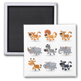 Cartoon animals set 1 fridge magnet