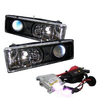 High Performance Xenon HID Chevy C/K Series 1500/2500/3500 / Chevy Tahoe / GMC C/K Series 1500/2500/3500 / GMC Jimmy / GMC Yukon ( Replaceable City Lights ) / Chevy Silverado / Chevy Suburban / Chevy Suburban Projector Headlights with Premium Ballast   Bla