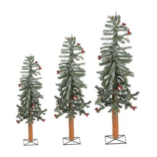 Sterling Inc. 2 3 4 Frosted Alpine Unlit Christmas Tree 3 Piece Set Christmas Decor